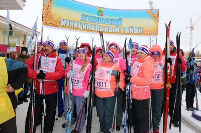 Агаповка встала на «Лыжню России»