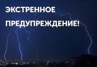 Экстренное предупреждение: ожидаются сильные дожди и грозы.